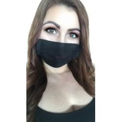 Čierne ochranné šité rúško