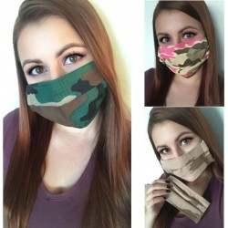 Maskáčové ochranné šité rúško