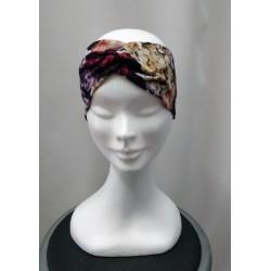 Kvetovaná dámska čelenka